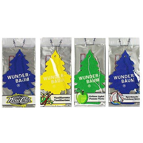 Wunderbaum Lufterfrischer Duftbaum 4er Set Mix