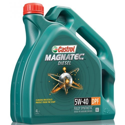 OLIO MOTORE CASTROL MAGNATEC 5W-40 DPF, FULLY SYNTHETIC, DIESEL ENGINES, 4 LITRI