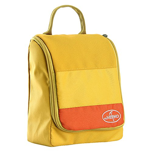 Sac de lavage de voyage/Sac à cosmétiques imperméable à l'eau portable entreprise/Voyages plein air sac de rangement-jaune