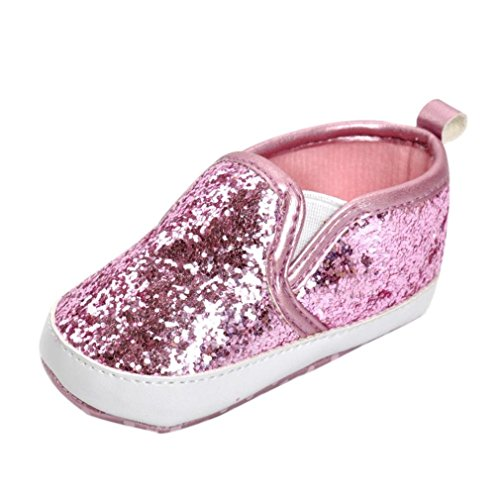 IGEMY Newborn Girls Boys Crib Shoes Chaussures de souliers antidérapantes Soft Sole Sneakers Rose