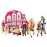 Barbie Pink Passport Pferd und Ranch Spielset mit Puppen, Spielset, Weihnachtsgeschenk