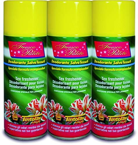 Profumo Deodorante Spray HygienFresh Fresco Pulito Salvatessuti Formula Professionale Lavanderie Mangiaodori Lavanderia Igienizzante Mangia Odori Interni Ambienti per Tessuti, Tende, Scarpe, Auto