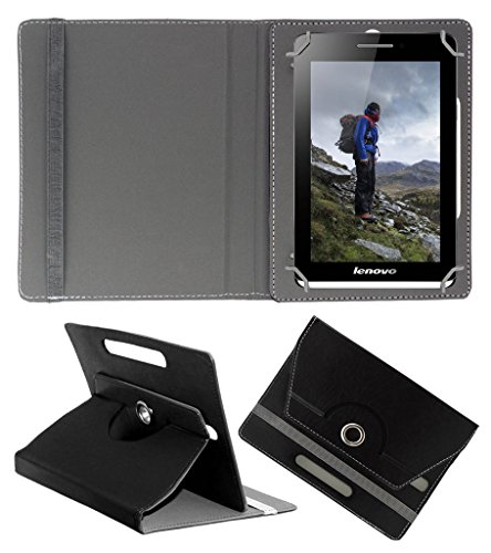 Acm Rotating 360° Leather Flip Case For Lenovo S5000 Tablet Cover Stand Black  available at amazon for Rs.149