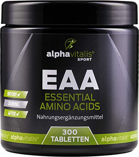 EAA vegan - Amino Komplex aus allen 8 essentiellen Aminosäuren - 300 Tabletten inkl. BCAA und L-Lysin - ohne Magnesiumstearat -