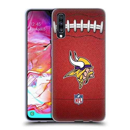 Head Case Designs Offizielle NFL Fußball 2018/19 Minnesota Vikings Soft Gel Huelle kompatibel mit Samsung Galaxy A70 (2019) (Minnesota Viking Fußball)