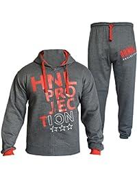 A2Z 4 Kids® Kinder Mädchen Jungen Designer Trainingsanzug HNL PROJEKTION Aufdruck Kapuzenpulli & Hosen Jogginganzug 7-13 Jahren