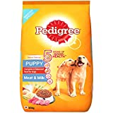 Pedigree Puppy Dry Dog Food, Meat & Milk, 20kg Pack