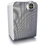 Brandson – Termoventilatore Ceramico | Timer 1-8 Ore | 2 Livelli di potenza |Termostato digitale| 1800 Watt | Funzione Ventilatore | Comandi touch | Tripla sicurezza | Bianco grigio