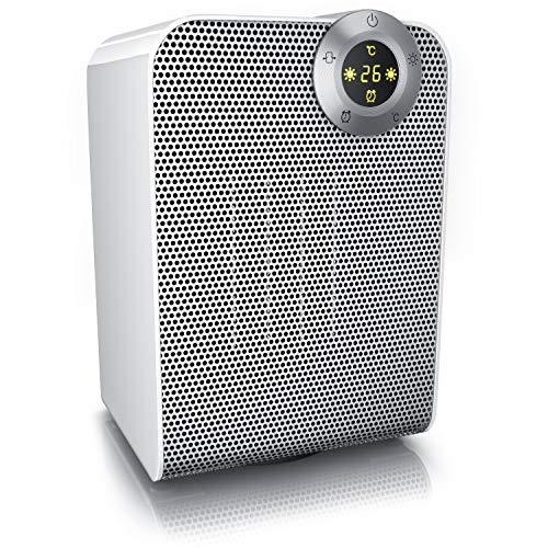 Brandson - Heizlüfter | Keramik-Heizlüfter Badezimmer energiesparend leise | Schnellheizer mit Oszillationsfunktion | 2x Heizstufen | Timer | Heizung Heater | GS-zertifiziert