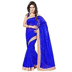 Aruna Sarees Chiffon Saree (Godrej Royal Blue_Blue)