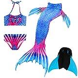 Das beste Mädchen Bikini Badeanzüge Schönere Meerjungfrauenschwanz Zum Schwimmen mit Meerjungfrau Flosse Schwimmen Kostüm Schwanzflosse - Ein Mädchentraum- Gr. 140, Farbe: A09