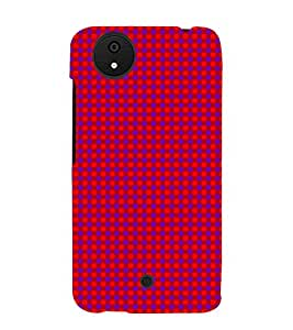 Purple Dots Pattern 3D Hard Polycarbonate Designer Back Case Cover for Micromax Canvas Android A1 AQ4501 :: Micromax Canvas Android A1