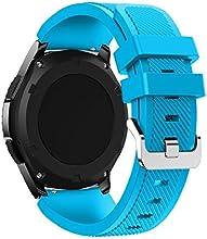 Correas para Samsung Gear S3 Frontier Sannysis Banda de pulsera de silicona deportiva color azul