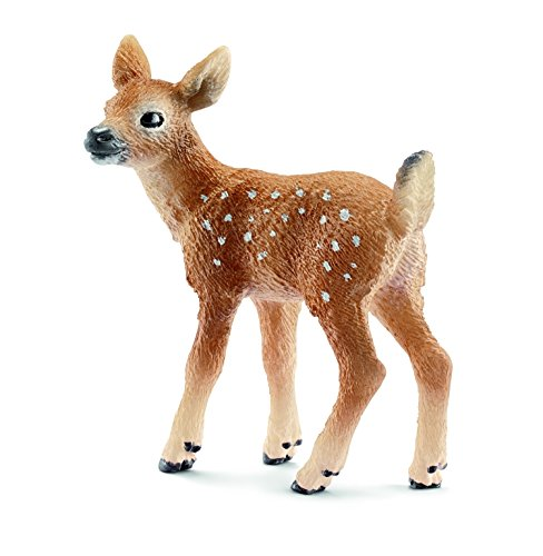 Schleich Fawn with Tail (White)