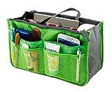 Lady Women Travel Insert Handbag Organiser Purse Large Liner Organizer Tidy Bag-Green