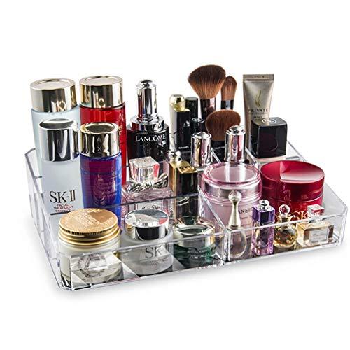 Maquillage Cosmétique de Cas de Maquillage D'affichage de Boîte de Rangement D'organisateur D'espace Libre D'acrylique, 9 Sections