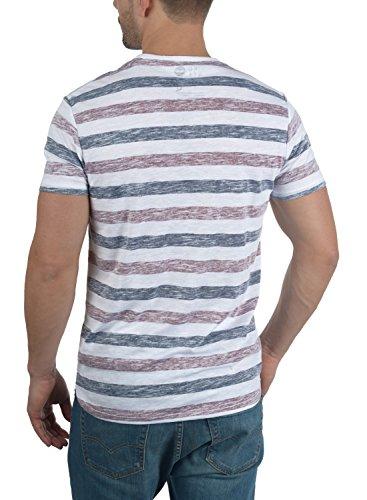 SOLID Tet - T-shirt da Uomo Wine Red (0985)