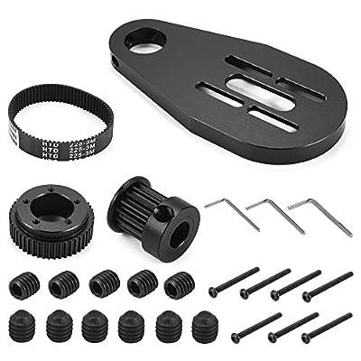 XCSOURCE DIY elektrische Skateboard Longboard Riemenscheibe und Motor Kit + Halterung + Gürtel + Schraube Werkzeughalterung für 70/72mm Rad OS915