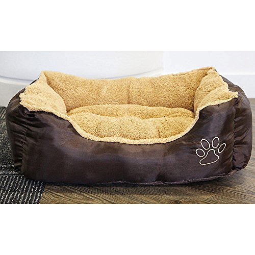 medium-dog-beds-for-dogs-and-cats-pet-bed-from-the-uk-in-brown-hard-wearing-polyester-with-fleece-in