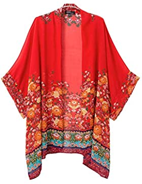 Mujer Vintage Estilo Étnico Playa Trajes De Baño Kimono Cover Up