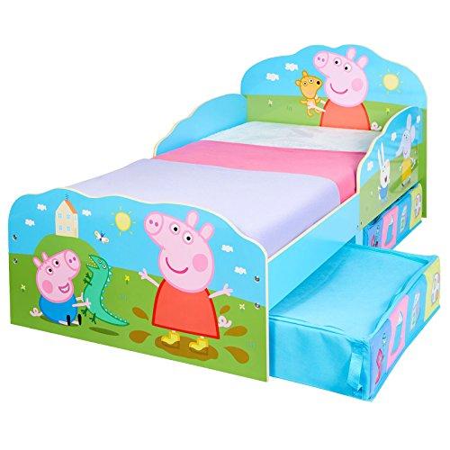 TW24 Einzelbett - Bett - Kinderbett Holz mit Schubladen Peppa Pig 140cm x 70cm -