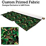 Camouflage Frau Design Digital Print Stoff Microfaser