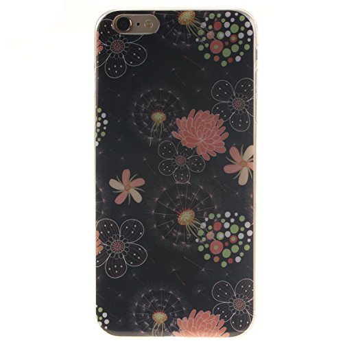 "Apple iPhone 6 Plus/6S Plus 5.5"" Silicone Coque - Felfy Ultra Mince Flexible Souple Soft Gel Case Cover Coque Housse Coloré Cute Motifs Retro Protection TPU Transparent frontière Case Cover pour Apple Couleur Fleur Cas"