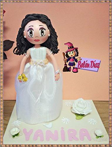 Fofucha Comunión niña muñeca artesanal