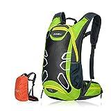 Fahrradrucksack 15L Trinkrucksack Stylisch Wasserdicht Rucksäcke für Radsport Radfahren Running Laufen Jogging, Raincover enthalten (Grün)