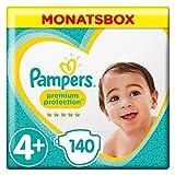 Pampers Premium Protection Monatsbox Vorteils-Set: Premium Protection Windeln Gr. 4+ (10-15 kg), 1 x 140 Stück und Premium Protection Pants Gr. 4 (9-15 kg), 1 x 160 Stück