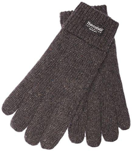 EEM Herren Strick Handschuh LASSE, 100% Wolle, Thinsulate warm, Winterhandschuh; anthra, Größe L