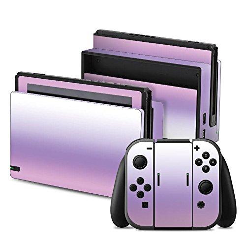 nintendo-switch-folie-skin-sticker-aus-vinyl-folie-aufkleber-pastellfarben-lila-rosa-weiss