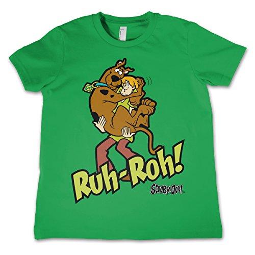 Scooby Doo Offizielles Lizenzprodukt Ruh-Ruh Unisex Kinder T-Shirt - Grün 5/6 Jahre