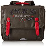 IKKS Cartable Rock Rebel Trolley, 35 cm, Multicolore (Rouge/Noir)