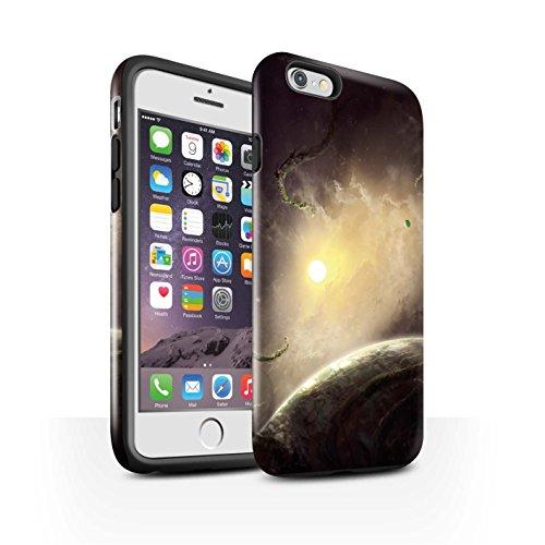 Offiziell Chris Cold Hülle / Glanz Harten Stoßfest Case für Apple iPhone 6S / Pack 6pcs Muster / Galaktische Welt Kollektion Entfernten Stern