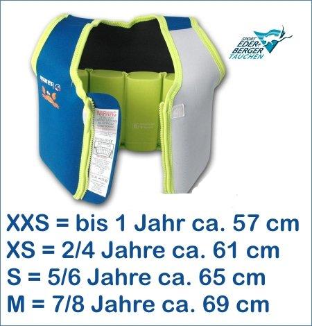 *Mares Kinder Schwimmweste Schwimmhilfe Floating Jacket Kids (lime, XS – 2-4 Jahre (ca.11-18kg))*