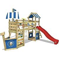Wickey Aire de jeux StormFlyer Tour de jeux en bois avec bac à sable et  balançoire e7c229c27700