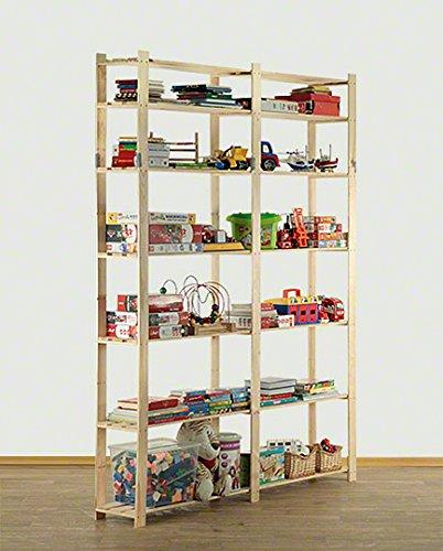 AKTIONSpreis Holzregal Kellerregal Lagerregal Bücherregal Serie B (B-31 HxBxT: 220x170x28 cm)