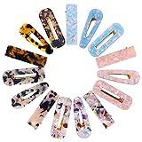 15 Stücke Acrylharz Alligator Haarspangen, Mode Geometrische Haarspangen Haarspangen für Frauen Damen Haarschmuck