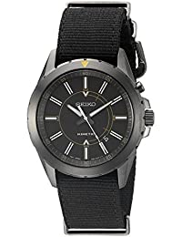 Seiko De los hombres ska705Recraft Kinetic Analógico Negro Reloj de cuarzo japonés
