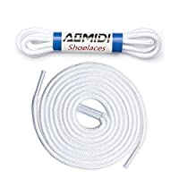 Shoelaces Round Athletic Shoes Lace (2 Pairs) - for Shoe and Boot Laces Shoelaces Replacements (69 cm, White)