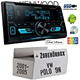 VW Polo 9N - Kenwood DPX-3000U - 2DIN USB CD MP3 Autoradio - Einbauset