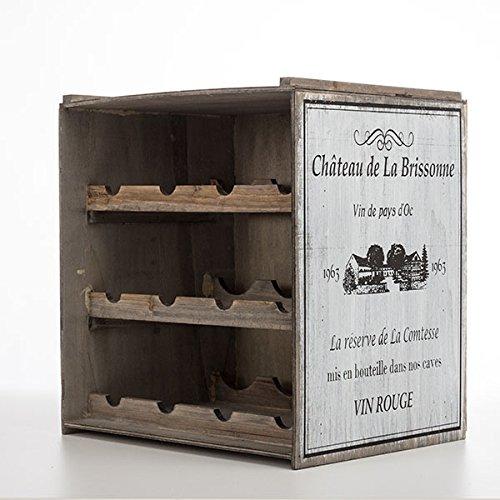 Vino Estante de vino Armario vino Soporte Vino almacenamiento Vintage Estantería de cocina apilable