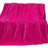SUNNY KEY--Mantas para cama @ Vellón de Coral Rosado,Sólido Sólido 100% Poliéster mantas 200x230cm