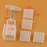 Fairy Season Square Homemade Moon Cake Cake Mould Sugarcraft Decoration with 4 Stamps
