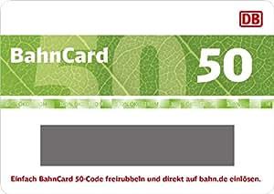 Deutsche Bahn | BahnCard 50 Geschenkkarte (Gutschein ausschließlich einlösbar von Reisenden zwischen 27 und 59 Jahre!) - exklusiv bei Amazon