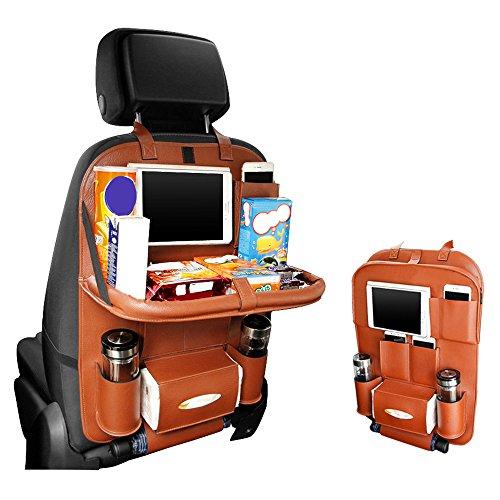 Seggiolino Auto Organizzatore, Pushingbest multifunzionale del sedile posteriore dell'automobile dell'organizzatore pieghevole Car Tablet Holder carrozza ristorante Bottiglie Table Holder