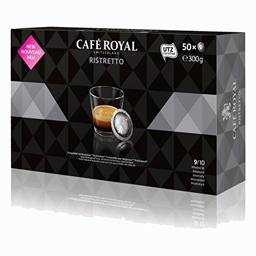 CAFÉ ROYAL Office Pads Ristretto Café, Café Tostado, Monodosis, Compatible con Sistema Nespresso...