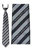 Krawatte/Sicherheits-Krawatte/Security-Krawatte - gestreift, SCHRIFTZUG SECURITY EINGEWEBT, mit Gummizug - Farbe schwarz