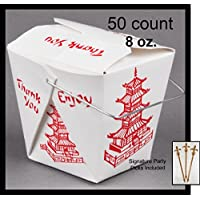 50Zählen Chinese Take Out Boxen Pagode 8Oz/Half Pint Party Favor und Lebensmittel,